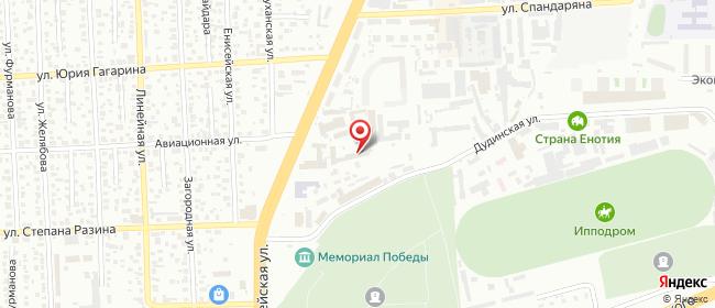 Карта расположения пункта доставки Красноярск Шахтеров в городе Красноярск