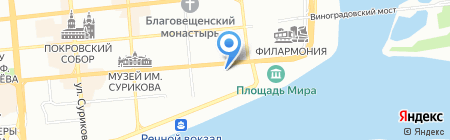 Мясной ряд на карте Красноярска