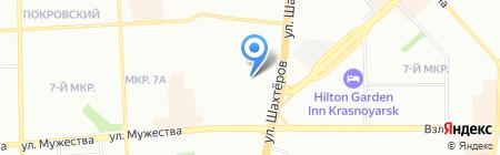 КрасПласт на карте Красноярска