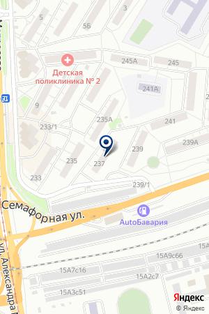 АВТОСТОЯНКА РЕНЕССАНС-98 на карте Красноярска
