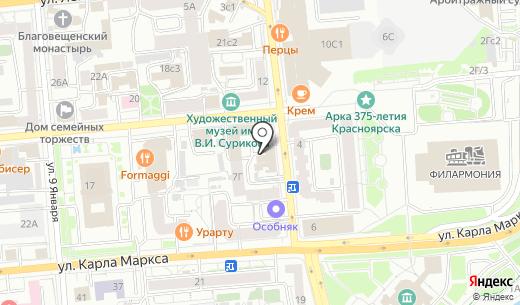 Банкомат Банк ВТБ 24 ПАО. Схема проезда в Красноярске