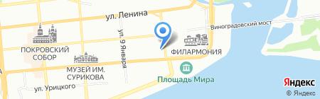 12 Месяцев на карте Красноярска
