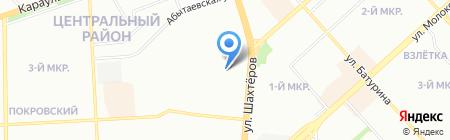 Великая стена на карте Красноярска