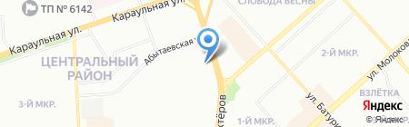 Южный на карте Красноярска