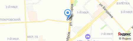 Еврофорточка на карте Красноярска