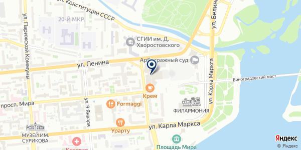 ОХРАННОЕ ПРЕДПРИЯТИЕ ВИТЯЗЬ на карте Красноярске