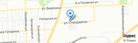 Перина на карте Красноярска