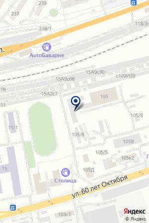 АВТОСАЛОН БРИЗ на карте Красноярска