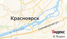 Гостиницы города Красноярск на карте