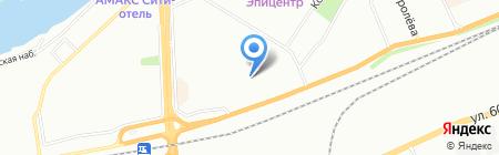 Радуга на карте Красноярска