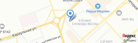 ВЕЛЛ-КРАСНОЯРСК на карте Красноярска