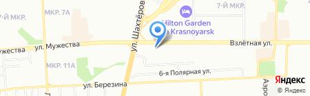 ВТБ Лизинг на карте Красноярска