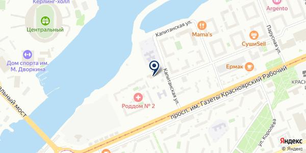 ЧАСТНОЕ ОХРАННОЕ ПРЕДПРИЯТИЕ АКВИЛОН-С на карте Красноярске