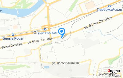 Местоположение на карте пункта техосмотра по адресу г Красноярск, ул 60 лет Октября, д 107