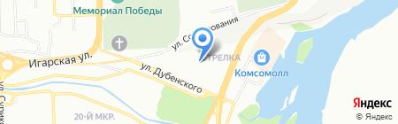 Детский сад №51 на карте Красноярска