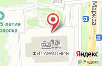 Схема проезда до компании Ягодка в Красноярске