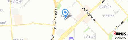 КрасДорУниверсал на карте Красноярска