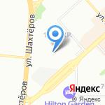 Сатурн на карте Красноярска