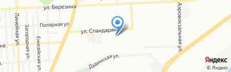 Конфетти на карте Красноярска