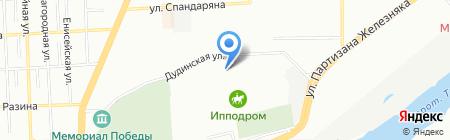 Авто-Линия на карте Красноярска