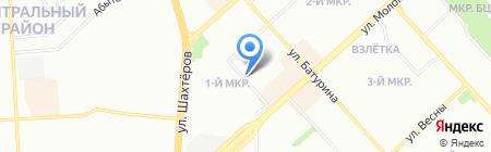 Яббаров и Дакфилд на карте Красноярска