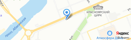 Садко на карте Красноярска