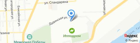 Континент-Авто на карте Красноярска