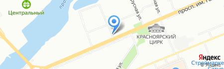 Виктория на карте Красноярска