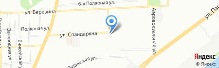 Магазин продуктов на Аэровокзальной на карте Красноярска