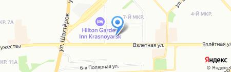 Эдем на карте Красноярска