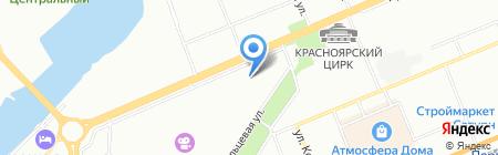 Жаклин на карте Красноярска