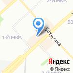 Гейша на карте Красноярска