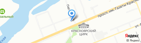Оптима на карте Красноярска