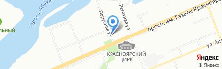 Джунгли на карте Красноярска