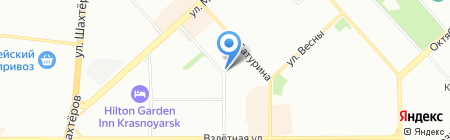Авакарт на карте Красноярска