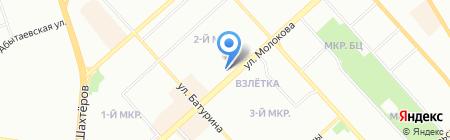 Окно Сервис на карте Красноярска