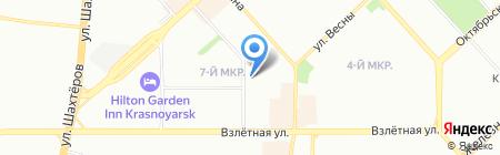 СВ.Маслова на карте Красноярска