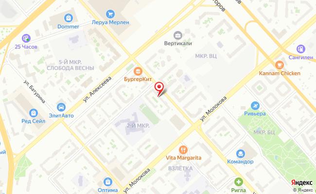 Карта расположения пункта доставки ExMail в городе Красноярск