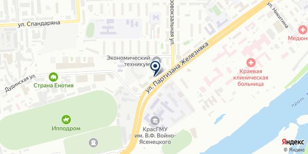 ОХРАННАЯ ФИРМА АТЛАС-С на карте Красноярске