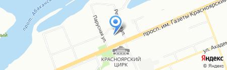 Альциона на карте Красноярска