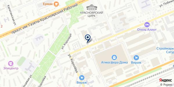 ТОРГОВО-СЕРВИСНАЯ ФИРМА СПАРТА на карте Красноярске