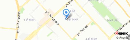 Исток на карте Красноярска