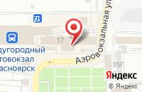 Схема проезда до компании Промлидер в Красноярске