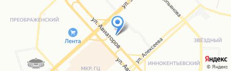 Промстрой на карте Красноярска
