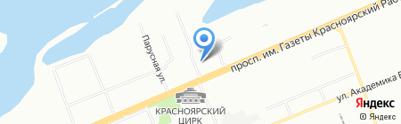 Сквер на карте Красноярска