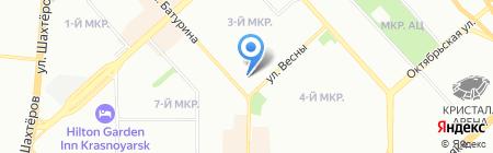 TNT на карте Красноярска