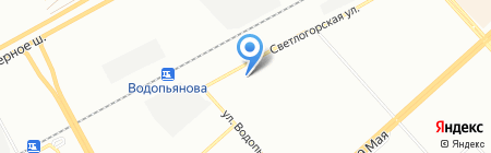 Весна на карте Красноярска