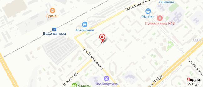 Карта расположения пункта доставки Красноярск Водопьянова в городе Красноярск