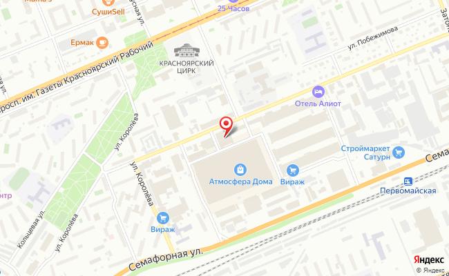 Карта расположения пункта доставки СИТИЛИНК в городе Красноярск