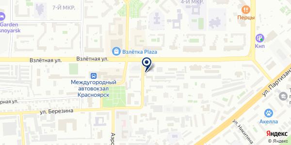 ОХРАННАЯ ФИРМА БИЗНЕСГАРАНТ на карте Красноярске